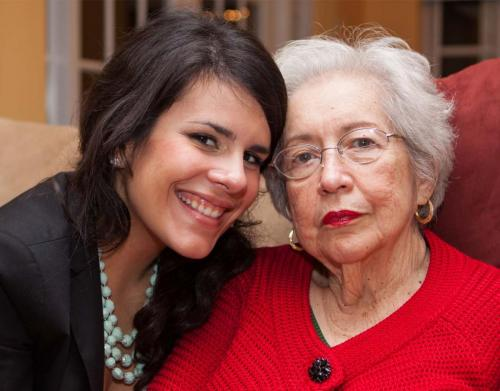 young person with elderly lady